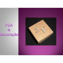 Kit 500 Caixinha Em Mdf Crú 5x5 C/ 2 Mini Letras