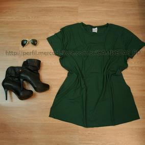 Promoção Blusa Camiseta Vestido Bata Plus Size Básico Moda