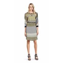 T-shirt Dress Estampado Vies Contraste Mv Ref: 104393