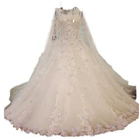Vl18 Vestido De Noiva Importado Luxo Lindo Renda Princesa