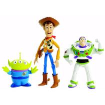 Toy Story Buzz Woody Alien Pack 3 Pzas Disney Mattel