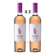 Vino Pack 2 Botellas  Rosado Nicole Cava Quintanilla 750 Ml