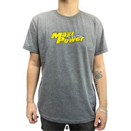 Camiseta Maxi Power Racing Cinza