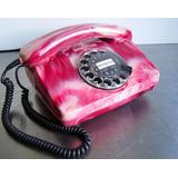 Antiguo Teléfono De Disco Años 80s Funcionando E Impecable