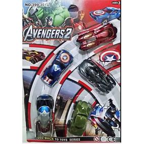 5 Carrinhos De Brinquedo Filme Vingadores Avengers 2coleção