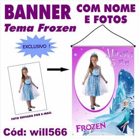 Banner Painel Digital Impresso Em Lona Festa Frozen Will566