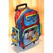 Kit Mochila Infantil Mickey Mouse Rodinhas +lancheira