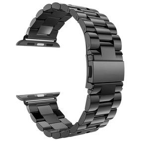 Pulseira Aço Inox Cor Preto - Apple Watch 42mm Série 1 2