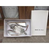 Zapatos De Fiesta Belle De Jour Plateados Talle 35