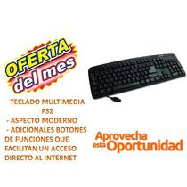 Aprovecha Oferta De Liquidación Teclado Multimedia K8860mbk