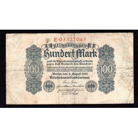 Alemania Weimar Billete 100 Marcos Año 1922 P#75