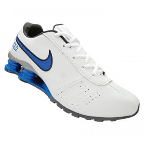 buy popular be165 85529 Tênis Nike Shox Classic Branco E Azul . ...