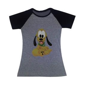 Camisa Camiseta Baby Look Raglan Pluto Personalizada Série 4430585d1bf07