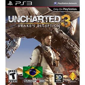 Uncharted 3 Psn Ps3 Play3 Dublado Portugues Brasil Goty