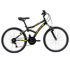 Bicicleta Aro 24 - Max Front - Preta E Amarela - Caloi