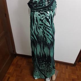 Vestido Damas Verde Brilloso
