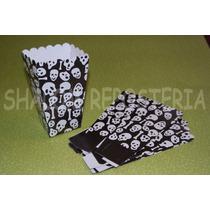 *kit 5 Cajas Palomitas De Maiz Candy Bar Halloween Piratas*