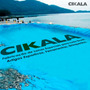 Lona Plástica Azul 3x3 Lago Tanque Peixes Cisterna 300 Micra