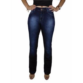 Calça Jeans 767 Flare Feminina Skinny Cós Medio Lycra