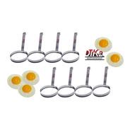 Modelador De Ovos Redondo Aço Inox Profissional Kit Com 8
