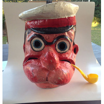 Antiguo Mascaron Careta De Carnaval De Popeye