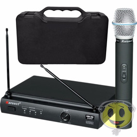 Microfone Sem Fio Karsect Kru 301 Mão Profissional Kadu Som