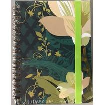 Caderno De Anotações E Bloco De Notas Duplo Florido - Ótima