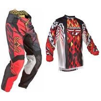 Equipo Traje Fly Motocross M-32 Cuatrimoto Enduroatv Rzr Atv