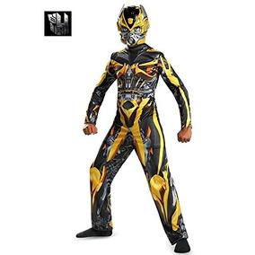 Disfraz Transformers Bumblebee Para Niño Talla M - Amarillo