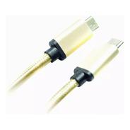 Cable De Datos Tipo C A Tipo C - Mallado  - 3a - 1mt Ditron