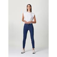 Calça Feminina Cigarrete Em Jeans Com Algodão E Elastano