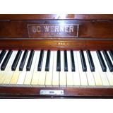 Piano Alemão Acústico Vertical Ed. Werner Berlin Bom Estado