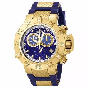 Relógio Invicta 5515 Subaqua Noma 3 By9 Azul Gold