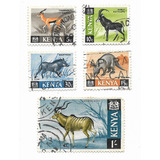 Lote Estampillas Kenya, Fauna, Animales