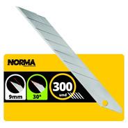 Lamina 30 Graus Para Estilete De 9mm Uso Profissional C/300