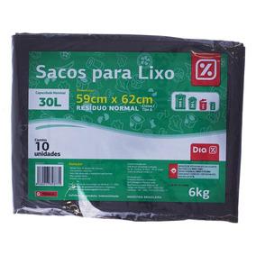 Sacos Para Lixo Dia Capacidade 6kg 30l 10un