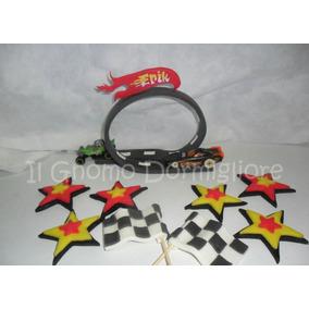 Pista Hot Wheels + 2 Banderas + Estrellas. Porcelana Fria