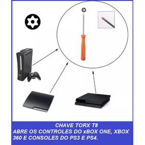 Chave Torx T8 Furo Estrela Abri Ps4 Ps3 Controle Do X360