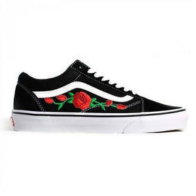 Tênis Vans Feminino Old Skool Calssic Roses Red Lançamento