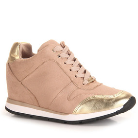 Tênis Sneaker Feminino Vizzano - Bege