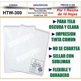 Papel Transfer Textil A4 Prenda Tela Oscuro 10hojas Moritzu