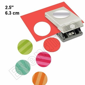 Scrapbook Perforadora Circulo 2.5 Papel Punch Tarjeta Deco