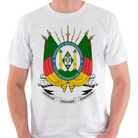 Camiseta Brasão Rio Grande Do Sul Gaúcho Camisa Blusa