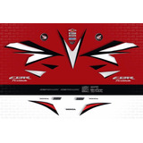 Kit Faixa Adesivo Honda Cbr 1000rr 2012 Vermelha Fireblade