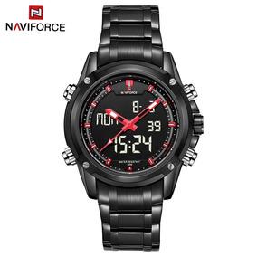 Reloj Militar Naviforce Para Hombres Doble Mecanismo