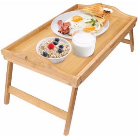 Mesa Desayuno Cama Servicio Laptop De Bambu *envio Gratis