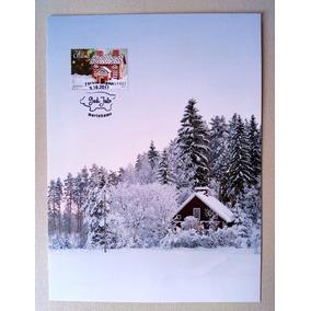 Cartao Postal Natal 2017 Aland Finlandia Neve Pinheiro Porco