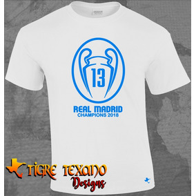 39da9d23b08b8 Playera Real Madrid 13 Champions By Tigre Texano Designs