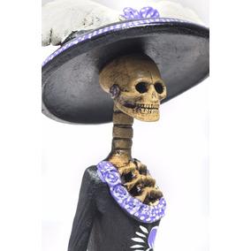 Atziry Catrina Mexicana De Barro 100% Hecha A Mano¡¡¡