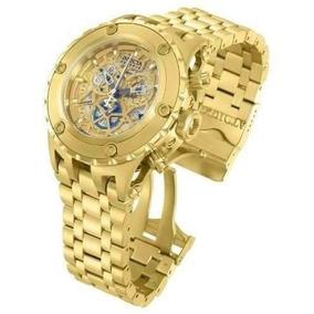Relógio Invicta Subaqua Cosc 12909 Gold Prova Dagua Cl44